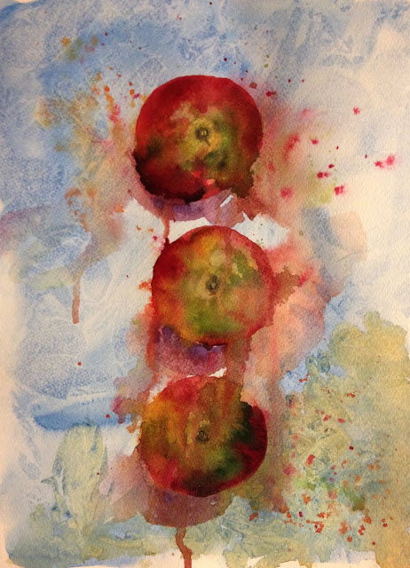 Monday, 20th August 2018 - Windfalls from Wendy, Watercolour Painting
