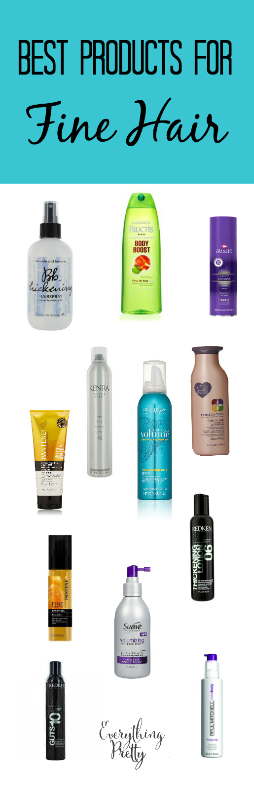 Best hair products for fine hair.