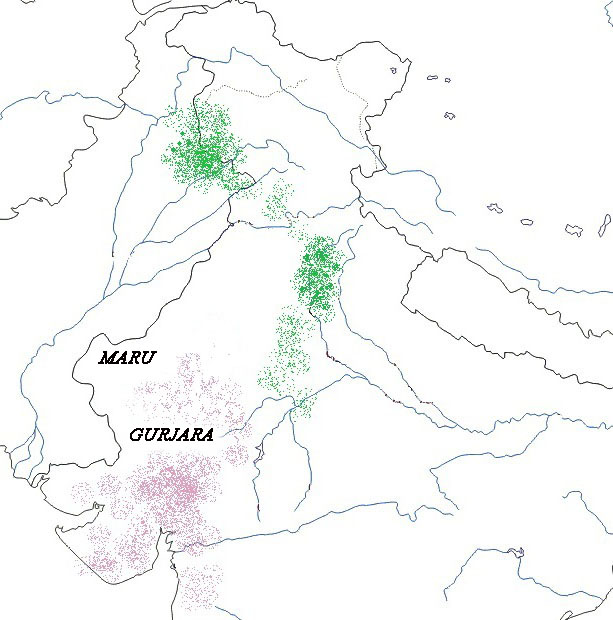 Relative finder distribution of South Asian Caste and Tribal
