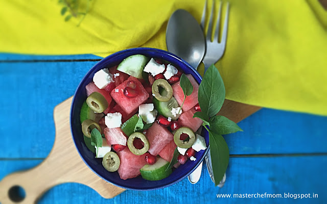 Watermelon Feta Salad | How to make Watermelon Feta Salad at Home