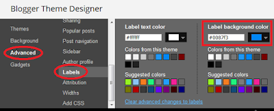Altering the color of Blogger labels in the theme designer
