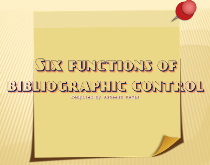 Six Functions of Bibliographic Control