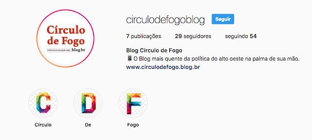 Circulo de Fogo agora tem instagram.