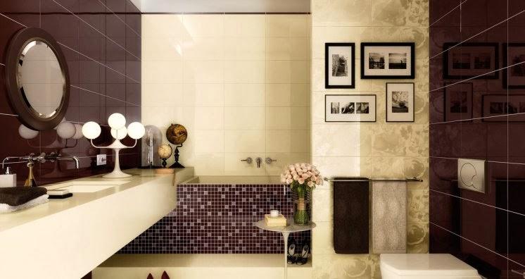 Lindos baños en beige y marrón - Colores en Casa