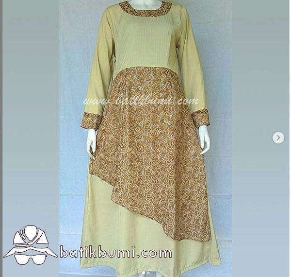 Batik Gamis Motif Sulur Sifon