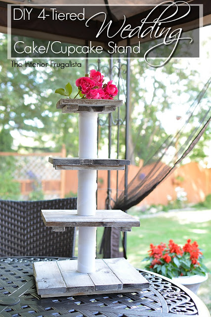 DIY Four Tiered Wedding Cake and Cupcake Stand