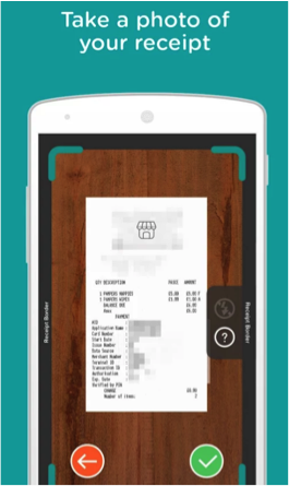 Pampers Club app - receipt scanning