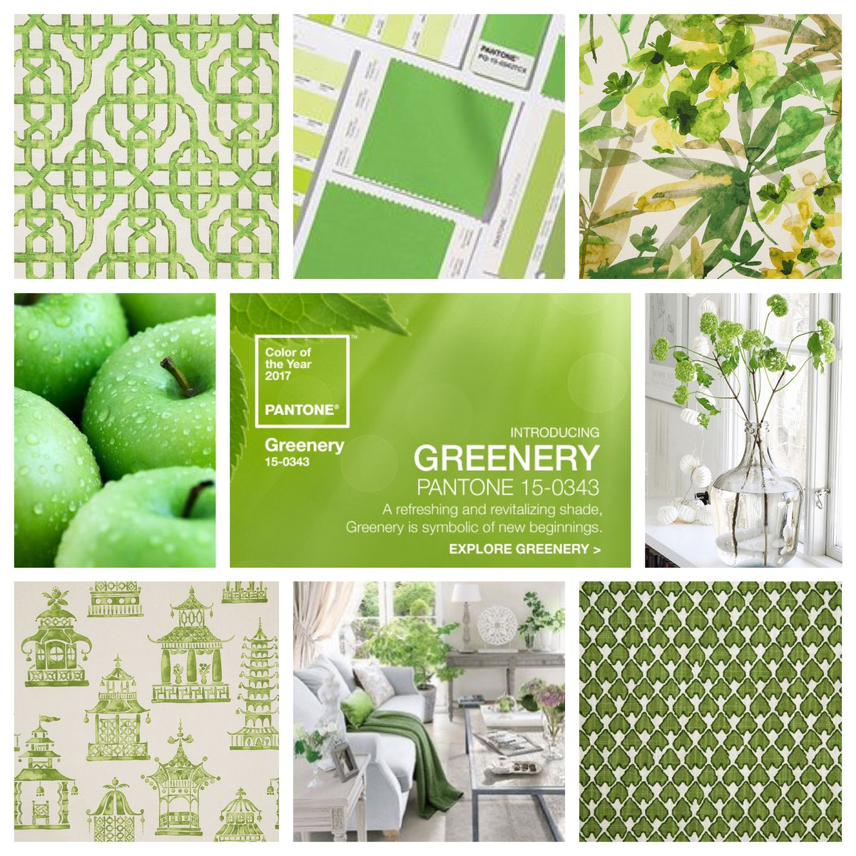 Colore pantone 2017 quest 39 anno abbiamo il greenery vita for Pantone 2017 greenery