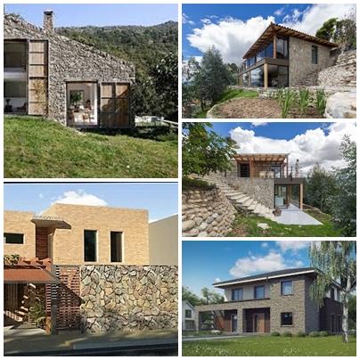 Casas Con Piedra, Utilización Contemporanea De Un Material Milenario