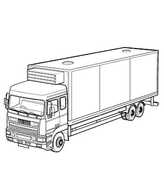 box truck coloring pages - photo#5