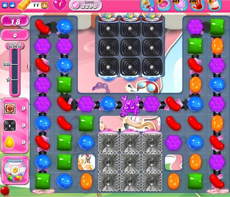 Candy Crush Saga level 2296