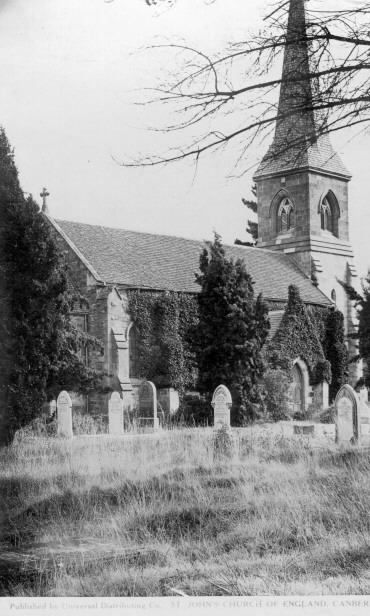 St John's Church and churchyard, 1940s