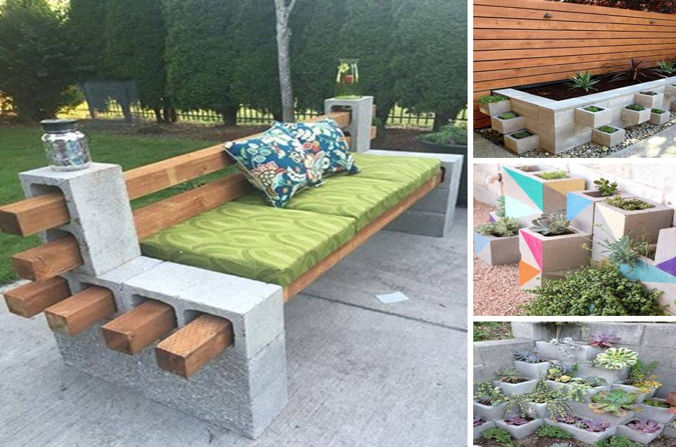 how to build a seating wall with cinder block