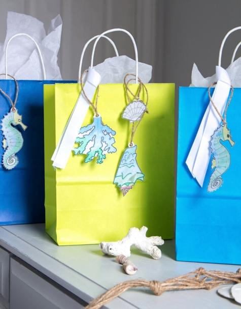 Free Digital Download Gift Tags Sea Life