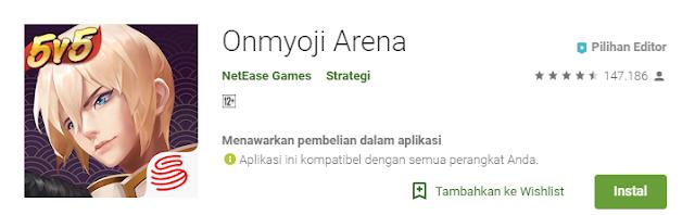 Game Strategi Moba Android Terbaik Onmyoji Arena