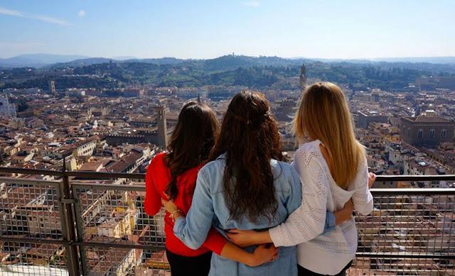 Pouco tempo de viagem em Florença