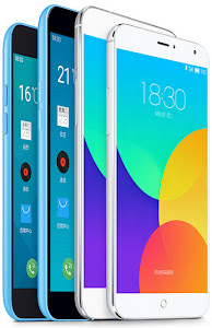 Meizu's lineup, the Blue Charm on the right