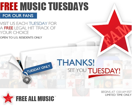 Daily Cheapskate: Free legal music download, today only, at Free All