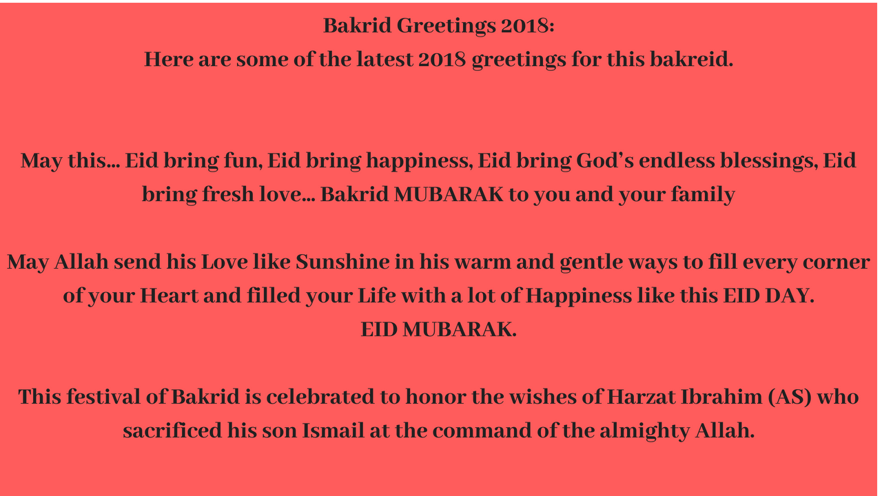 Bakrid 2018 Greetings For Loved Ones Friends Family Facebook