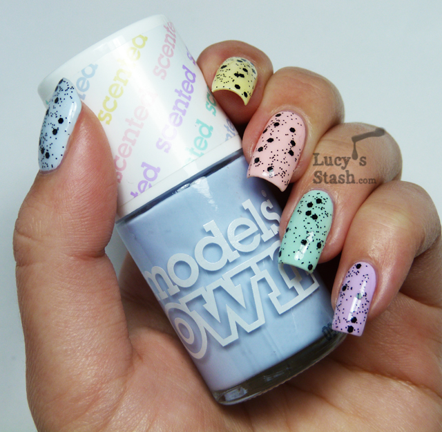 Lucy's Stash - Models Own Fruit Pastel Collection with Nubar Black Polka Dot