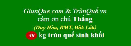 Trùn quế Duy Hòa: cảm ơn chú Thắng mua 30kg trùn quế sinh khối ạ