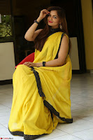 Cute Actress Ashwini in Yellow Saree Exclusive  006.JPG