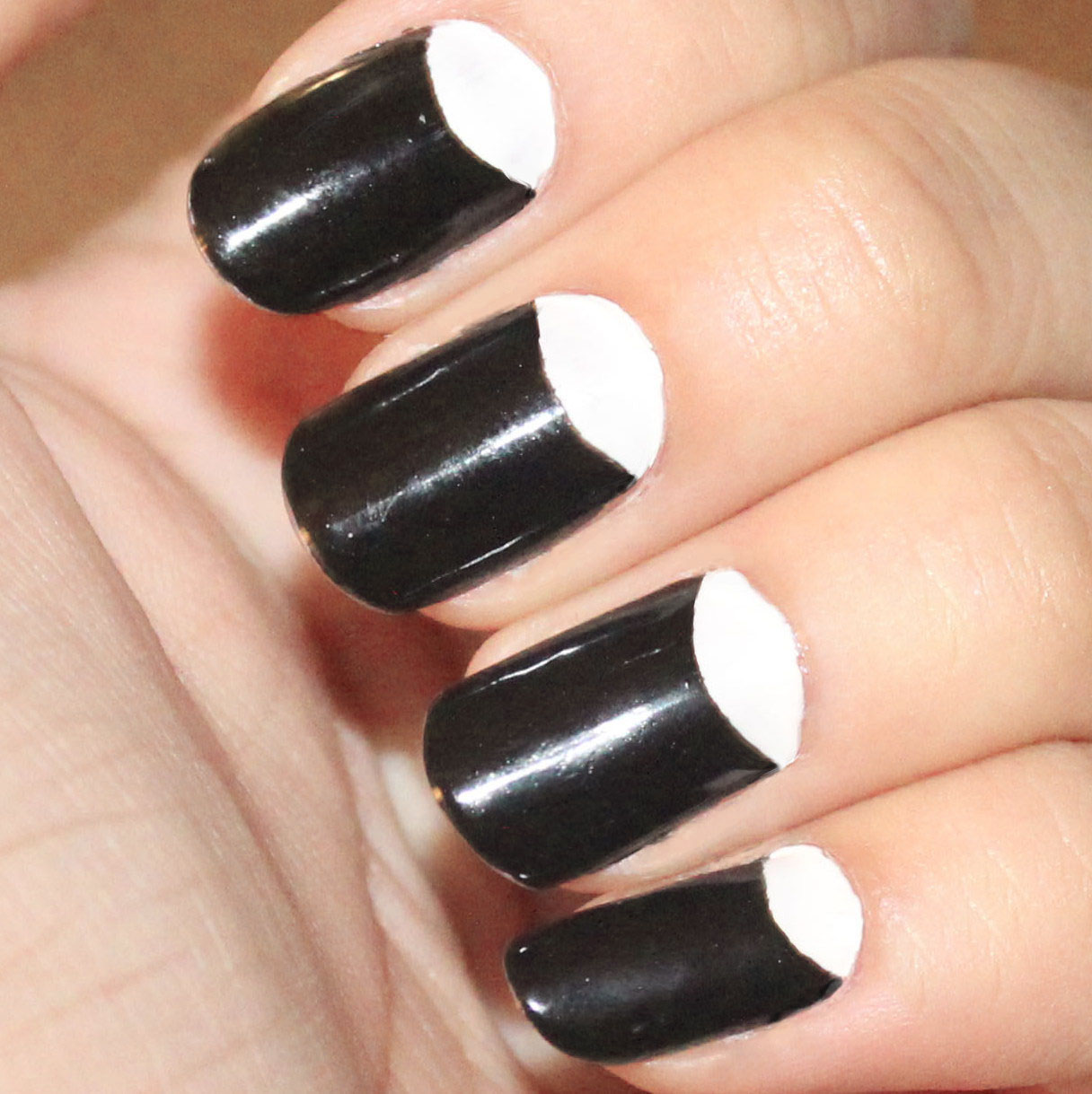 Nails With Half Moon