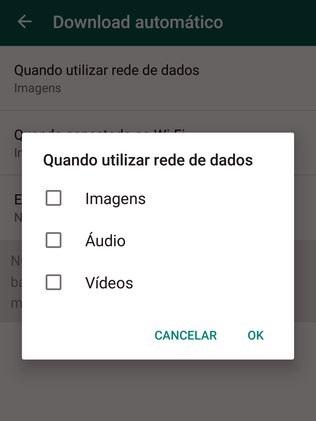 Para cancelar o download automático no WhatsApp, utilize o menu do aplicativo e escolha a opção Configurações