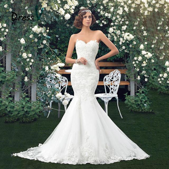 فستان الزفاف 2017 موديل حورية البحر -فستان زفاف الابيض الاناقة والرقي في التصميم