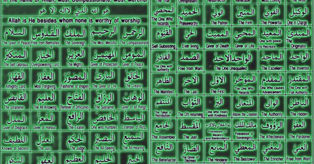 Bacaan Asma Ul Husna Lengkap Arab Latin Dan Artinya