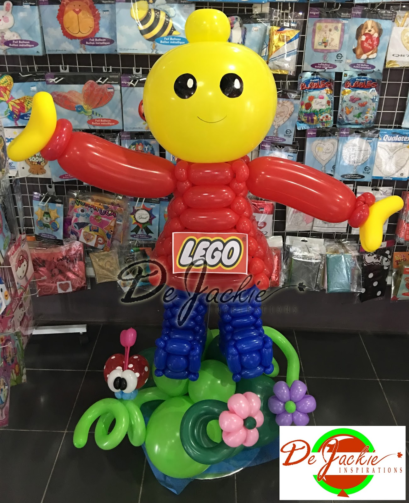 Balloon decorations for weddings birthday parties for Decoration lego