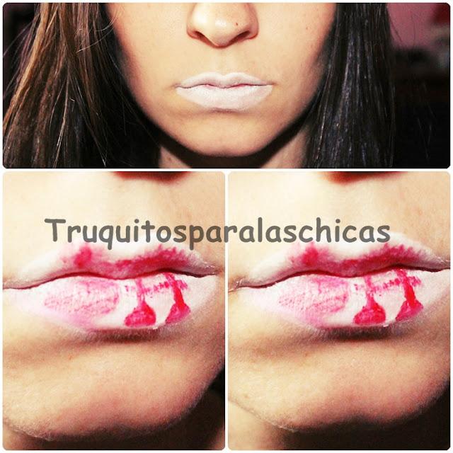 labios halloween sangre