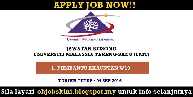 Jawatan Kosong Universiti Malaysia Terengganu (UMT)