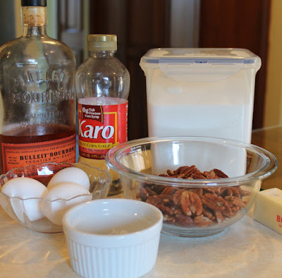 Bourbon Pecan Pie Ingredients