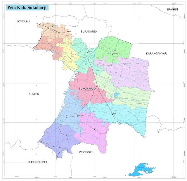 Peta Kabupaten Sukoharjo