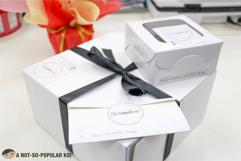 Box of Scrumptious PH Cake and Munchies