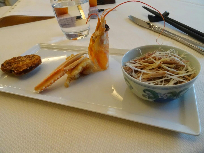 3 entrées restaurant chinois Family Li Impérial Cuisine Paris 8 ème.