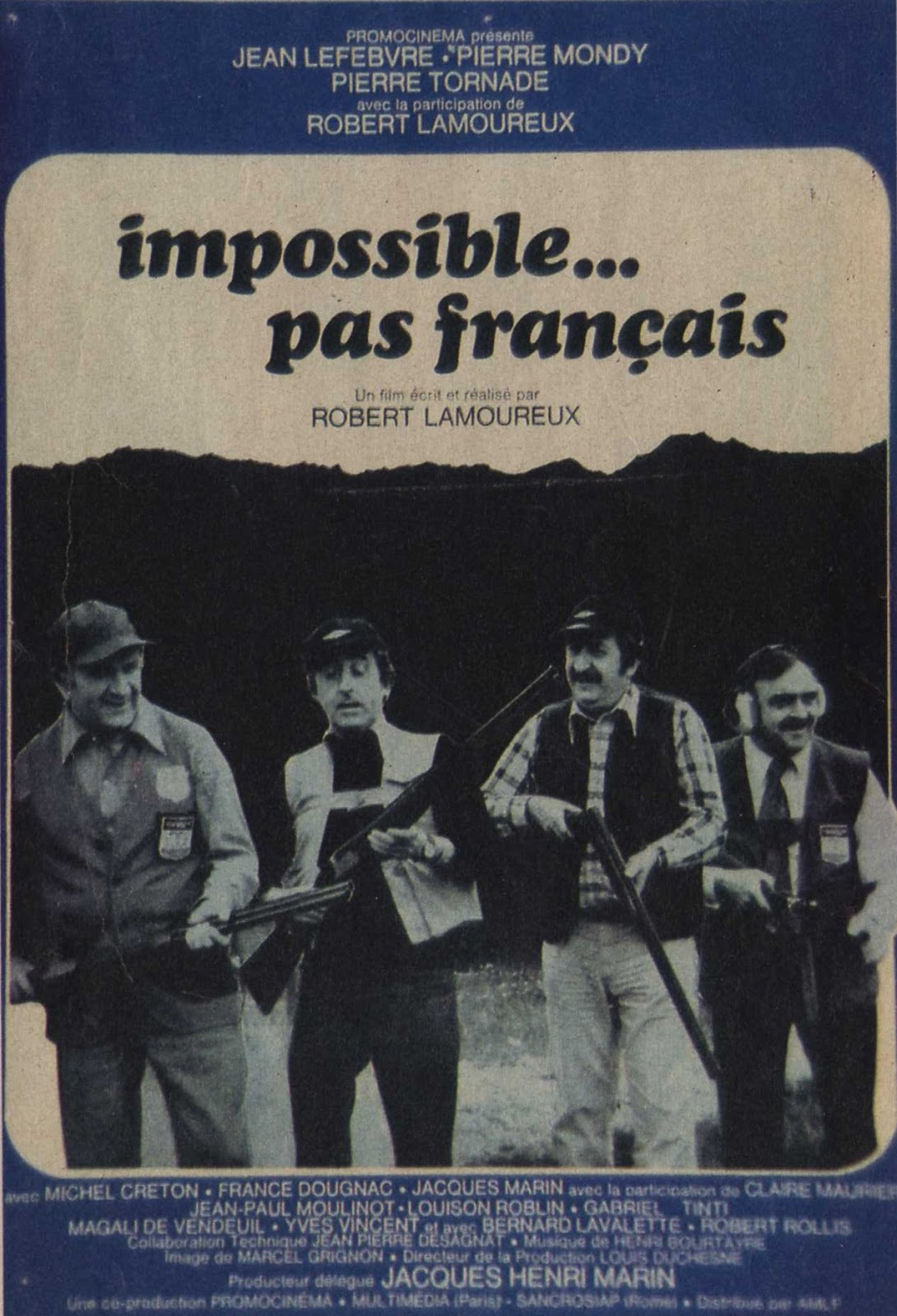 Impossible... Pas Français : impossible..., français, Roubi's, (Gabriele, Tinti, Blog):, Impossible..., Français, (1974)