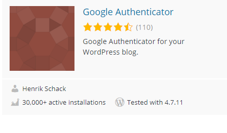 Plugin Security Terbaik Untuk WordPress Google Authenticator
