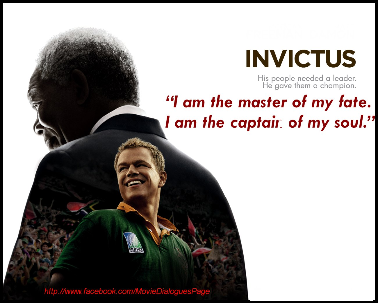 Movie Lines: Movie Quotes And Dialogues: Invictus Movie Quotes