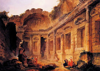 Interior of the Temple of Diana at Nîmes, 1771