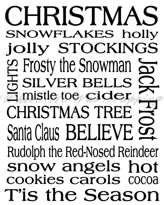 Christmas Subway Art Free Printable.Christmas Subway Art Printable While He Was Napping