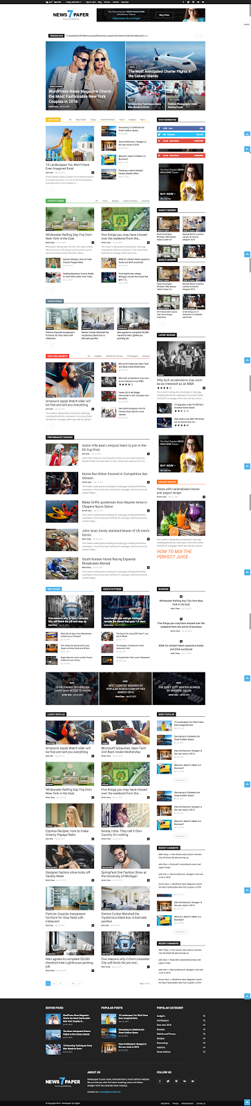 Newspaper Theme Wordpress yang Bagus, Theme Berita Wordpress SEO Friendly, dan Fast Loading