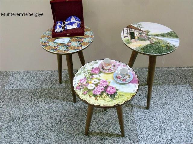 porselen boyama tabure