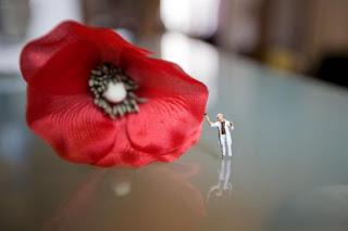 Figuras en miniatura, macro fotografia