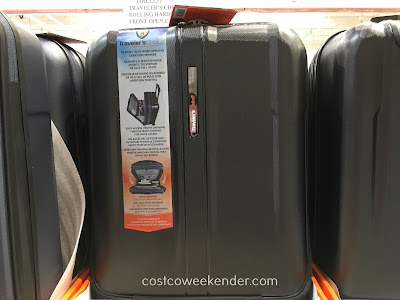 Be prepared for that next business or pleasure trip with the Traveler's Choice Rolling Hardside Front Open Carry-On Luggage