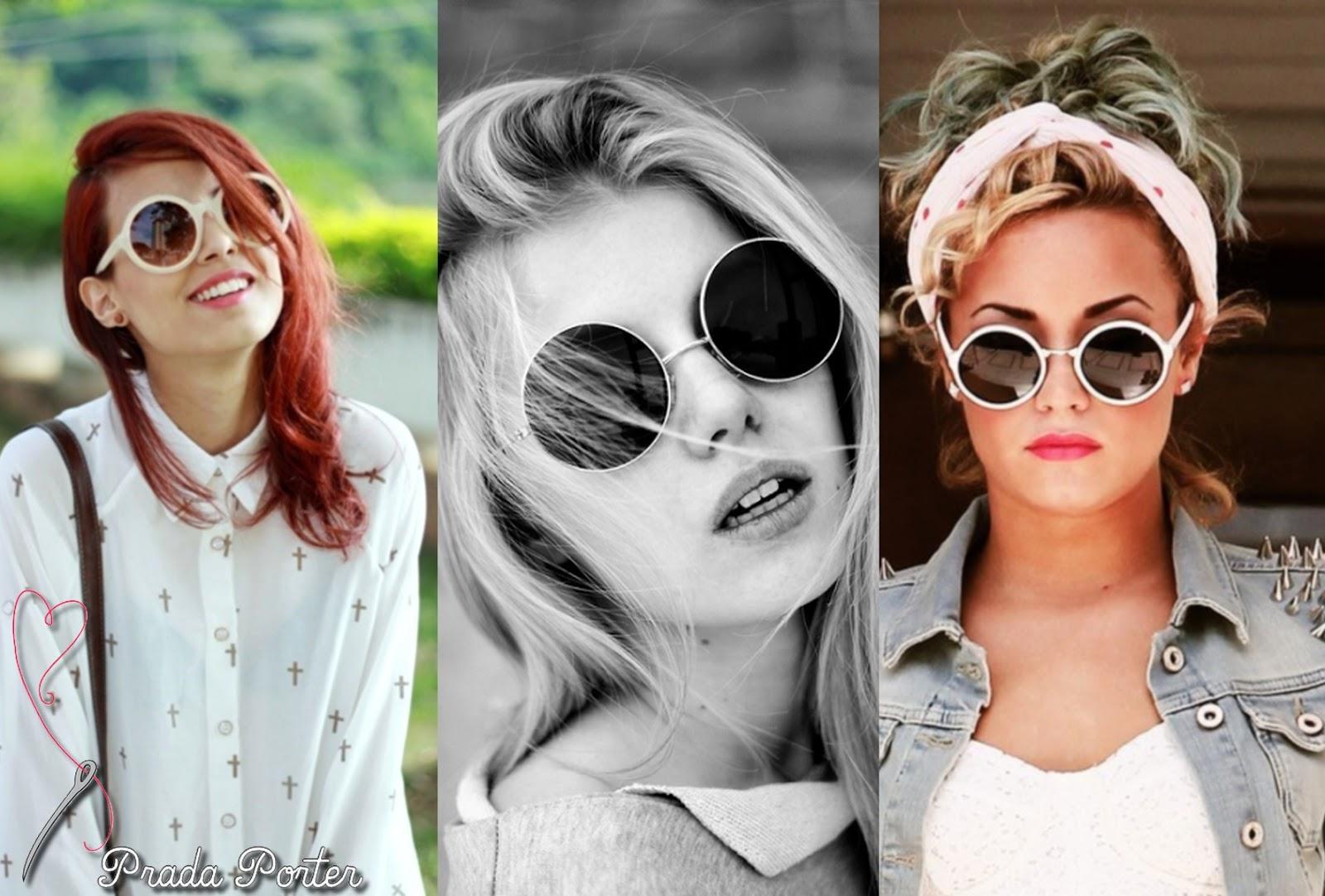 O óculos redondinho foi moda durante os anos 70 e ficou conhecido mesmo por  ter sido usado por John Lennon. Depois disso, deu uma sumidinha e volta  agora ... a7bd5f6322