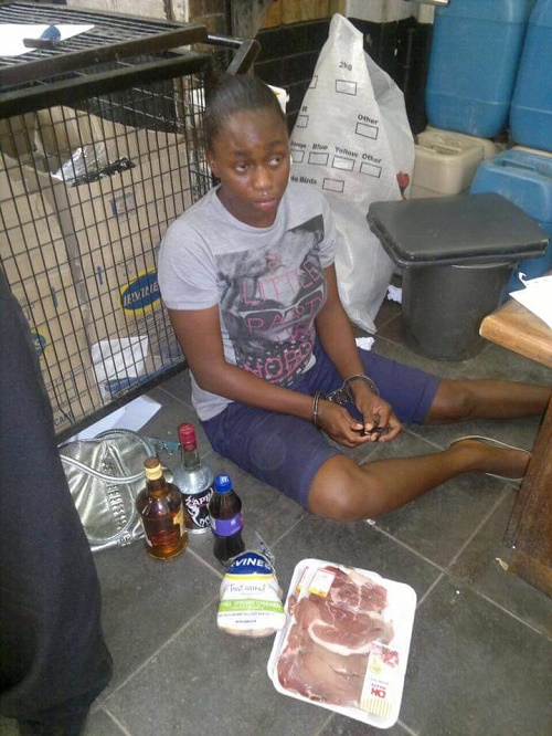 Woman Caught Stealing At A Supermarket (Photos)