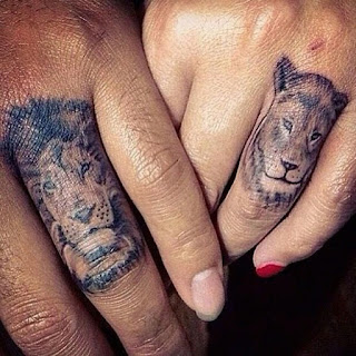 Animal tattoo for couples