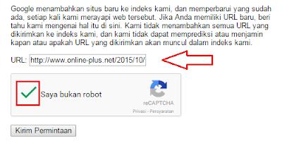 Google Crawl URL